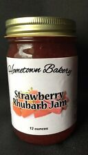 Hometown Strawberry/Rhubarb Jam, Cooked In Small Batches Using Real Fruit
