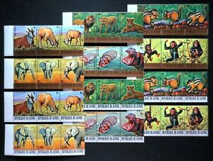 Guinea 1977  Endangered Animals ** MNH complete set (36v) 55,0 €