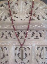 Lucky Brand Semi Precious Stone Tassel Necklace Ruby Red Beaded Gold Jewelry