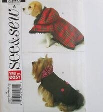 BUTTERICK SEWING PATTERN 5126 OOP DOG PET COATS 2 STYLES SIZES XS THRU L