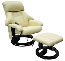Luxury Leather Electric Massage Chair With Foot Stool Sofa Office Gaming Chair