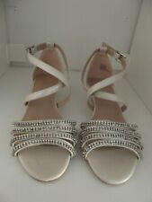 Carvela Diamante Low Wedge Sandals Size 3 BNWOB Wedding Occasion