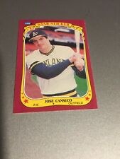 1986 Fleer Sticker Jose Canseco #19–1– Excellent- Rookie card
