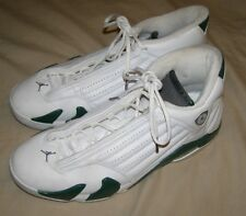 Nike Air Jordan Retro 14 DS Size 13.5 Whitr Green Black 311832-132 mens shoes