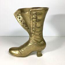 """Vintage Solid Brass Ladies Victorian High Button BootShoe 6"""""""