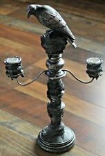 Yankee Candle Halloween CROW CANDELABRA Taper Holder ~New In Box~ Extremely RARE