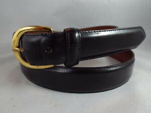 """Coach Men's #3921 Black Patent Leather 1.25"""" Dress Belt Sz 38 in EUC"""