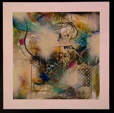 "Original Mixed Media Mono Print by John Douglas ""Life Forms 2"""