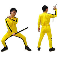 Bruce Lee Rompers for Kid Adult Wu Shu Clothing Costume for Men Martial Art S JC