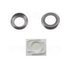 2 X GENUINE IPHONE 6 4.7 REAR GREY CAMERA LENS COVER RING + FLASH DIFFUSER PART
