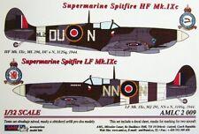 AML décalques 1/32 Spitfire Mk. IXc DU-N , NN-N w/ peinture masques # C2009