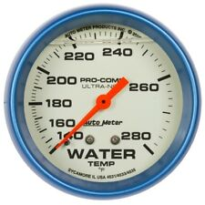 "Auto Meter 4231 2-5/8"" Water Temp. Gauge Liquid Filled Mechanical Ultra-Nite"