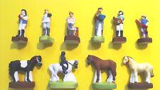 FEVES ...ref.S32  UNE JOURNEE AU CENTRE EQUESTRE  série complète    chevaux
