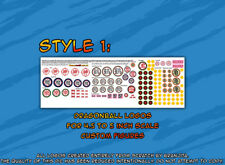 DragonBall custom logo stickers for figures STYLE 1 Jakks Irwin Evolve size