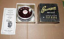 VINTAGE BRONSON ROYALIST NO. 370 FISHING REEL UNUSED MINT IN ORIGINAL BOX