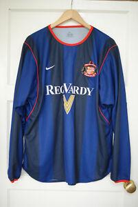 ORIGINAL REG VARDY SUNDERLAND 2001-02 AWAY FOOTBALL SHIRT XL ADULT  Long sleeve
