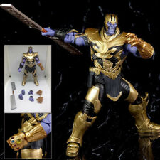 7''Marvel Avengers 4 Endgame SHF Thanos Action Figure Infinity Gauntlet Toy Doll