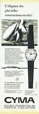 Publicité Advertising 067  1957  Cyma  montre Navystar