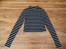 Girls/ladies H&M Black And White Top Size S