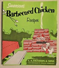 SWANSON 1960s Barbecued Chicken Recipes NOS Rare -- 2428