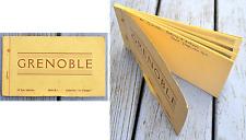 Ancien carnet de cartes postales, Grenoble, 10 cartes N&B, marqué lieu et date,