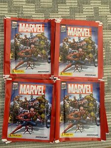 30 x NEW UNOPENED Panini Marvel 80th Sticker Collection Packs / Packets