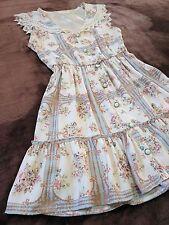 LIZ LISA Seilor collar Summer dress Antique grid Floral Japan Hime&Lolita SizeM