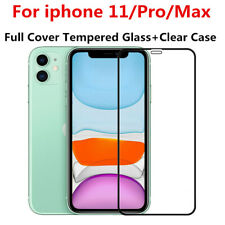 For iPhone 11 XR 7+ XS Max 8 Full Protect Tempered Glass Screen Cover + TPU Case