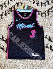 Maillot NBA Jersey 2021 Dwyane Wade Miami Heat 3 Nike Swingman Black EDITION