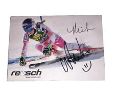 MIKAELA SHIFFRIN - Signed Ski Team - Official 5x7 Card Olympics GOLD Autographed