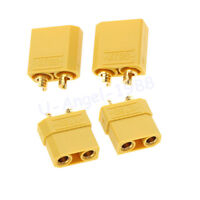 2 pair XT90 Battery Connector Set 4.5mm Male Female Gold Plated Banana Plug
