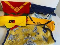 Lot Of 15 Cub Scout & Boy Scout Neckerchiefs With Wolf Scout Slide