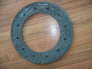 "Clutch Facing Lining NOS 10""  M978A  24 Hole Staggard Pattern  1940's IH Trucks"
