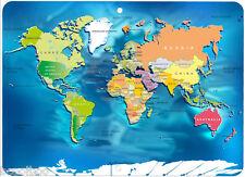 World Map Novelty Aluminum Sign
