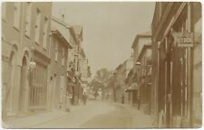 More details for 751 real photo postcard the thoroughfare woodbridge suffolk shops animated view