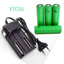 4PCS 100% Original  for SONY VT C5 5A  INR 18650 Battery&charger 3.7v 2600 DVISI