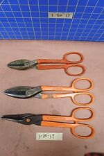 3 Wiss Tin Snips Inlaid Crucible & High Carbon Steel