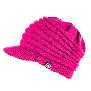 Unisex Winter Visor Beanie Knit Hat Cap Crochet Men Women Ski Thick Warm Acrylic