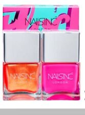 NAILS INC Flock You Nail Polish Duo Full Size Limited Edition New in Box