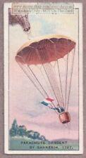 First Parachute Descent by Garnerin 1797 1915 Trade Ad Card