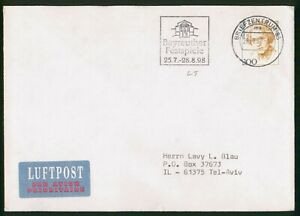 Mayfairstamps Germany 1998 to Tel Aviv Cover wwp_64707