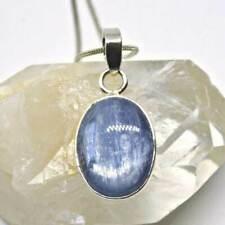 KYANITE Solid 925 Silver Stud Earrings Blue Gem Natural Crystal Studs Pair Reiki