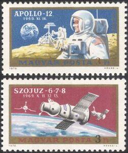 Hungary 1970 Apollo 12/Soyuz 6-7-8/Space/Rockets/Transport 2v set (n44857)