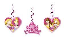 FESTONI PENZOLANTI PRINCIPESSE 3 PZ Party Festa  Compleanno Bimba Disney 85009