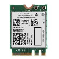 Dual Band Wireless-AC 3165NGW NGFF/M2 433Mbps WiFi+Bluetooth 4.2 802.11ac Card🔥