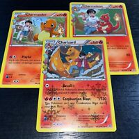 POKEMON TCG! CHARIZARD CHARMELEON CHARMANDER! 3 CARD EVOLUTION SET RC5 NM