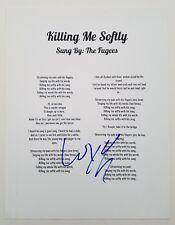 Wyclef Jean Signed Killing Me Softly Lyrics The Fugees Refugee The Score