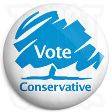Vote Conservative - 25mm Button Badge - General Election Political Tory Party