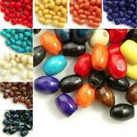30g(200pcs Approx) Rice Loose Wood Spacer Beads 6x4mm Craft Findings WBSET06