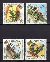 A7795) Spain 1971 Scott# 1685/88 MNH Legion